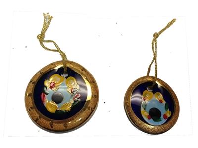 Himalayan Salt Lamps Evil : Evil Eye Gold Edge Color Painted